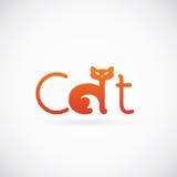 Cat Concept Symbol Icon eller Logo Template Arkivfoton