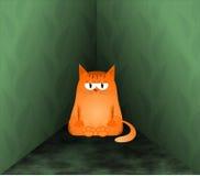 Cat in the corner Stock Image