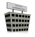 Cat Corporation gorda ilustração stock