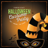 Cat costume Halloween party design Stock Images