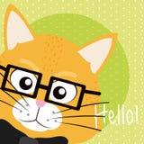 Cat Cute animal cartoon. Cat Saying hello cartoon vector illustration graphic design Royalty Free Stock Image