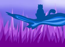 A cat cute royalty free illustration