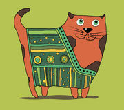 Cat. Decorative orange cat. cartoon cat Royalty Free Stock Photos