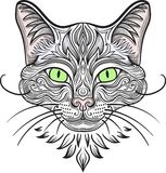 Cat with decorative pattern ellement. Vector clipart Royalty Free Stock Photography