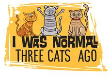 Cat Design engraçada ilustração do vetor