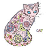 Cat. Design Zentangle. Royalty Free Stock Photography