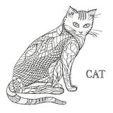 Cat. Design Zentangle. Royalty Free Stock Photo