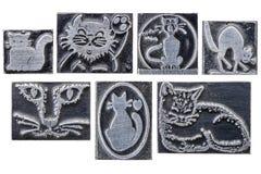 Cat dingbats Royalty Free Stock Photos