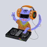Cat dj console Stock Photo