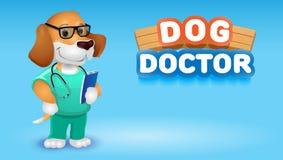 Cat doctor cute cartoon animal.Vector clip art illustration Stock Photos
