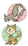 Cat & Dog. Cute images of a cat and dog Royalty Free Stock Photography