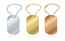 Cat Dog Animal Tags or Medallion. Vector Royalty Free Stock Image