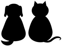 cat dog silhouette stock illustrations 7 493 cat dog Chiropratic Insignia Clip Art Medical Insignia Bone