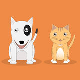 Cat and Dog. Cat and Dog cartoon vector Royalty Free Stock Images