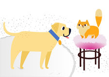 Cat and Dog characters best happy friends. Vector flat cartoon illustration Royalty Free Stock Photography