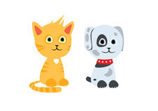 Cat and dog characters Royalty Free Stock Photography