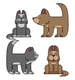 Cat and dog are friends vector illustration