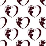 Cat dog heart pattern. Seamless Stock Photos