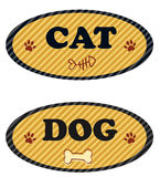 Cat and dog label Royalty Free Stock Photography
