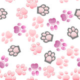 Cat and dog paw print with claws Stock Photo