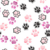 Cat and dog paw print with claws. Original trendy vector seamless pattern with cats and dogs paw print with claws Royalty Free Stock Image