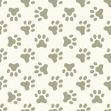 Cat or dog paw seamless pattern Royalty Free Stock Photography