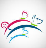 Cat dog and rabbit logo vector Stock Photography