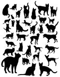 Cat and Dog Silgouettes Royalty Free Stock Photos