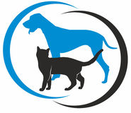 Cat and dog. Vector symbol cat and dog Royalty Free Stock Photography