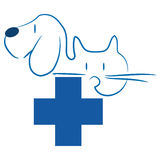 Cat and dog - veterinary logo Royalty Free Stock Images