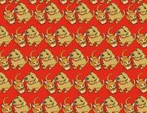 Cat and Dog Wallpaper. Cute illustrated Orange Cat with Tan Dog Wallpaper design vector illustration