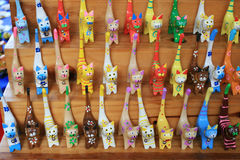 Cat Doll Collection. At Koh Kret, Thailand Stock Image
