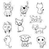 Cat doodle drawing a vector on white background Royalty Free Stock Photography