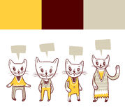Cat doodles. A set of funny cat doodles Royalty Free Stock Photo
