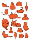 Cat Doodles Royaltyfria Bilder