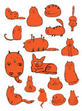 Cat Doodles Royalty Free Stock Images
