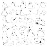 Cat Doodles Royalty Free Stock Photography