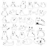 Cat Doodles. Hand Drawn Cat Doodles Set royalty free illustration