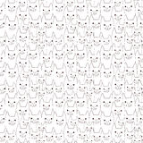 Cat doodles seamless pattern royalty free stock photo
