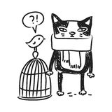 Cat drawing Royalty Free Stock Photography