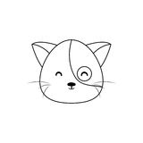 Cat Drawing Face vector illustratie
