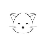 Cat Drawing Face Stock Afbeelding