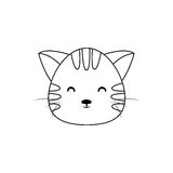 Cat Drawing Face royalty-vrije illustratie