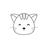 Cat Drawing Face Stock Afbeeldingen
