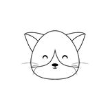 Cat Drawing Face Stock Foto