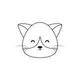 Cat Drawing Face Royalty-vrije Illustratie