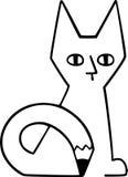 Cat Drawing Itself Fotografia Stock
