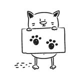 Cat drawing Royalty Free Stock Images