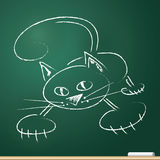 Cat, drawn in chalk Stock Photo