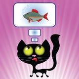 Cat Dreaming vector illustratie